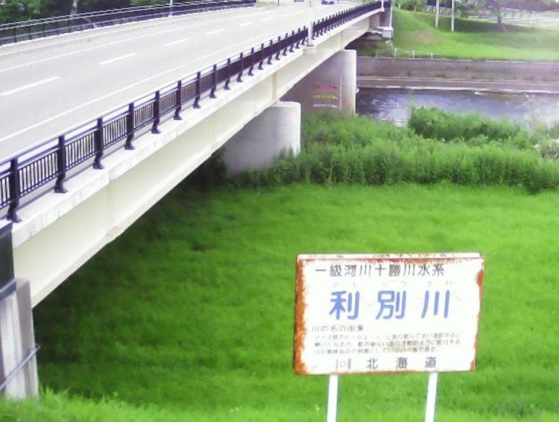 利別川19.7KPライブカメラ(北海道足寄町南1条)