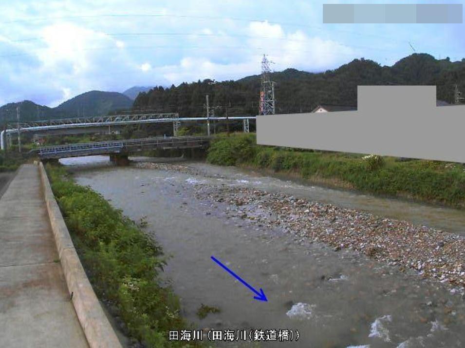 田海川鉄道橋ライブカメラ(新潟県糸魚川市田海)