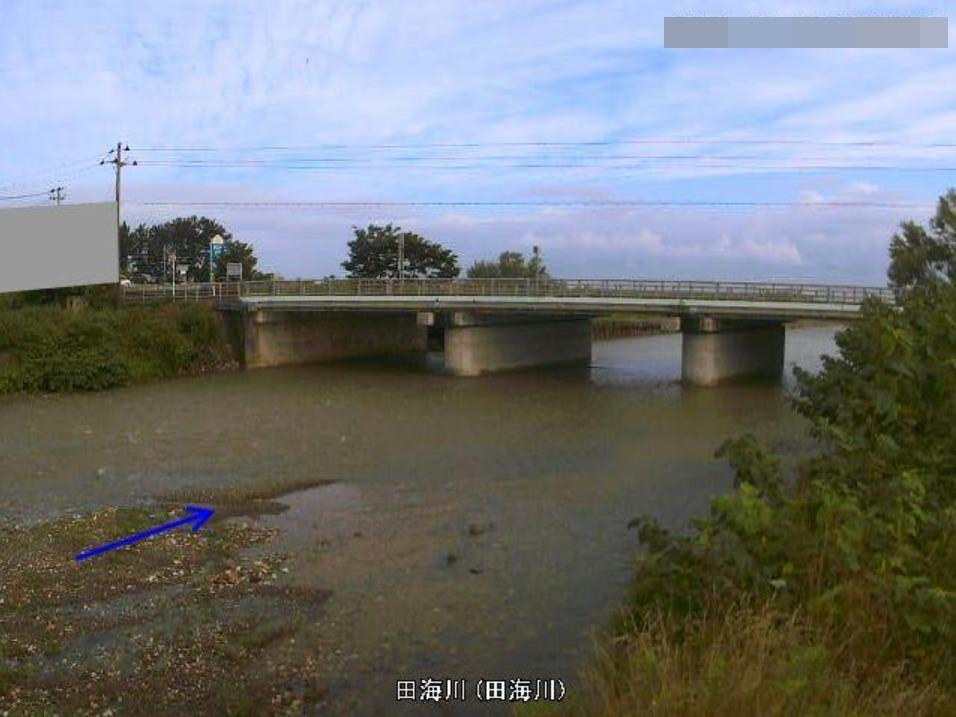 田海川田海川水位観測所ライブカメラ(新潟県糸魚川市田海)