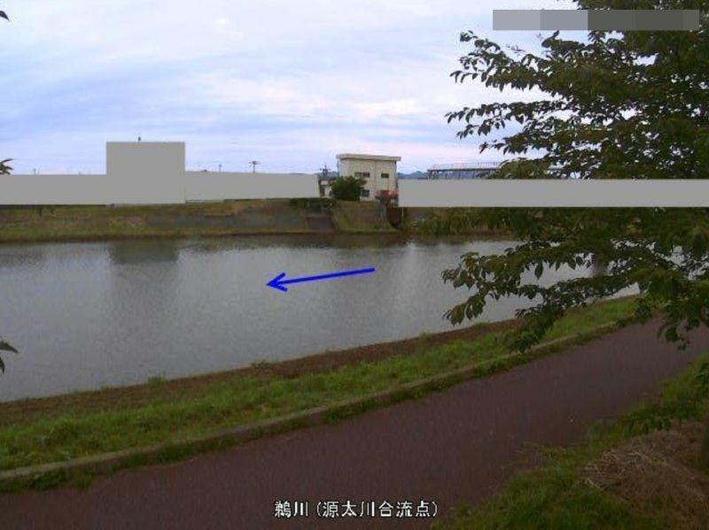鵜川源太川合流点ライブカメラ(新潟県柏崎市常盤台)