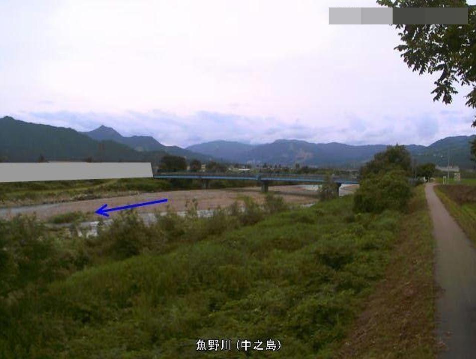 魚野川中之島ライブカメラ(新潟県南魚沼市中)