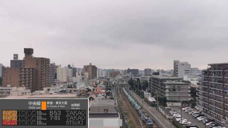 八王子JR中央線ライブカメラ(東京都八王子市)