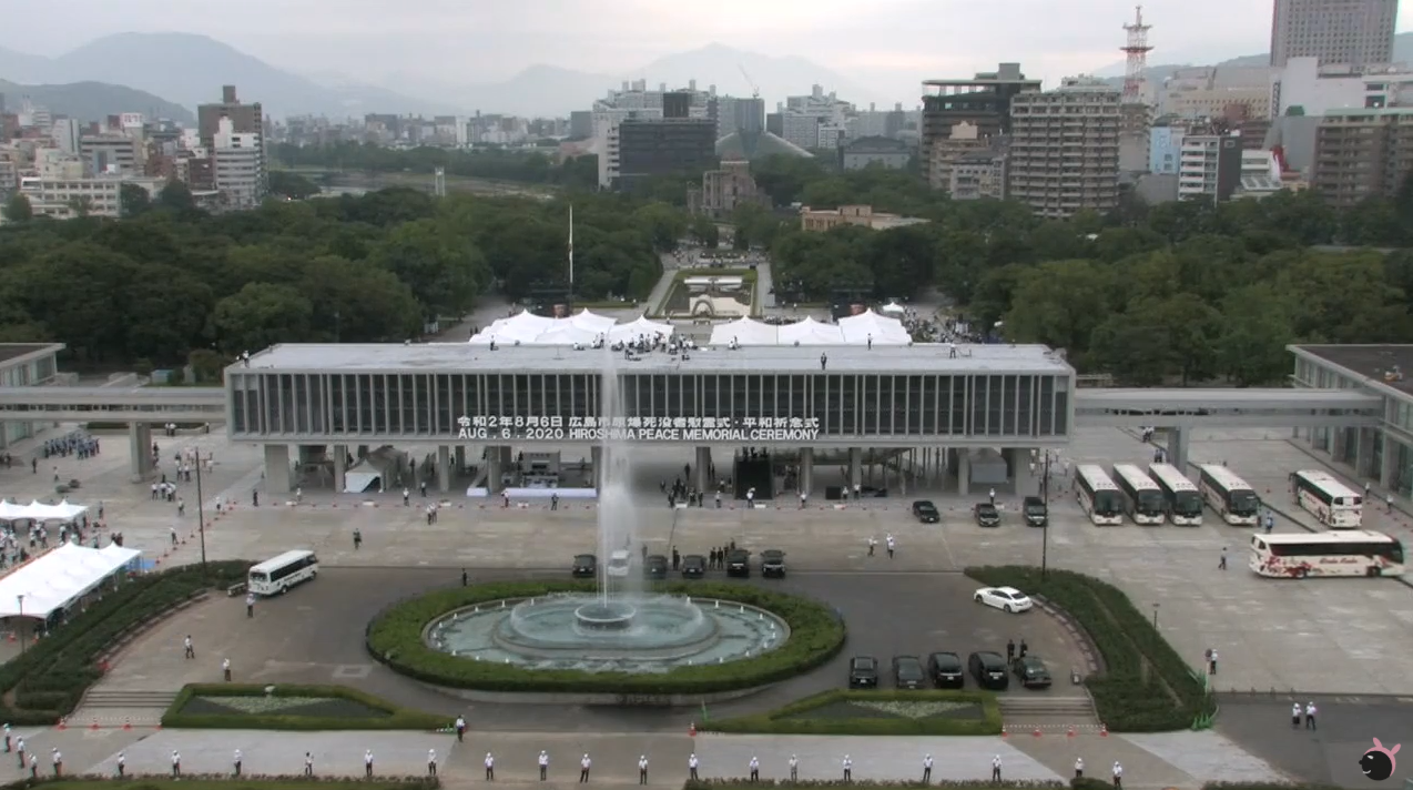 RCC広島平和記念式典ライブカメラ(広島県広島市中区)