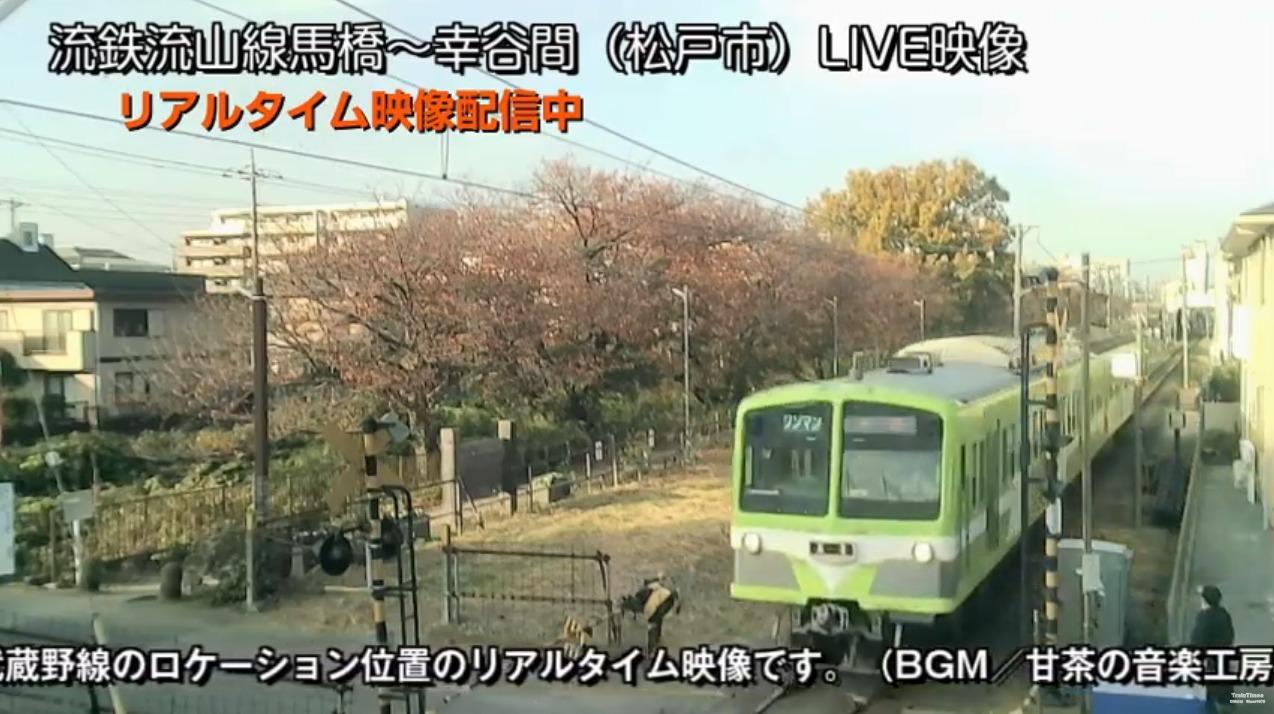 トレインタイムスチャンネル流鉄流山線ライブカメラ(千葉県松戸市新松戸)