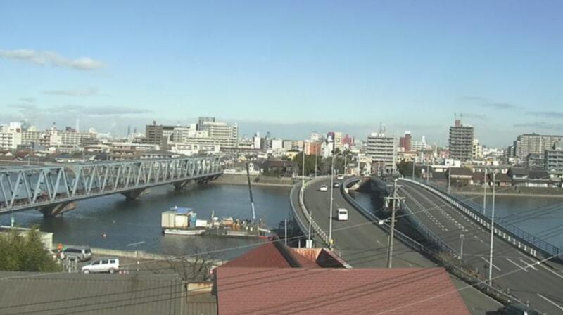 ちたまる天白川名和町付近ライブカメラ(愛知県東海市名和町)