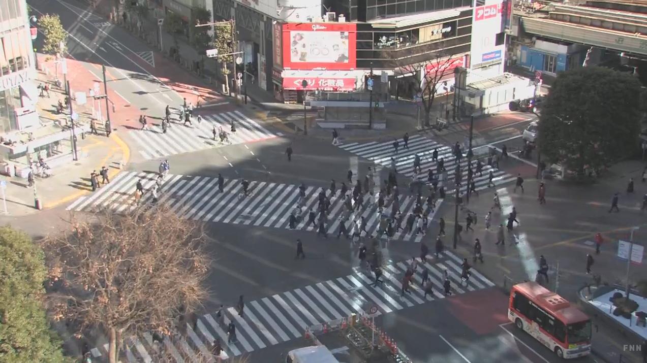 FNN渋谷スクランブル交差点ライブカメラ(東京都渋谷区道玄坂)
