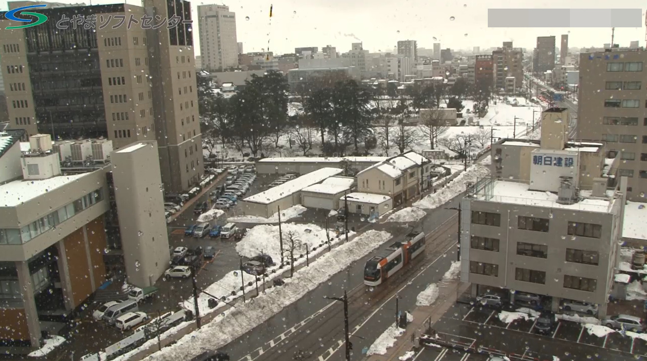 とやまソフトセンター富山県庁前ライブカメラ(富山県富山市安住町)