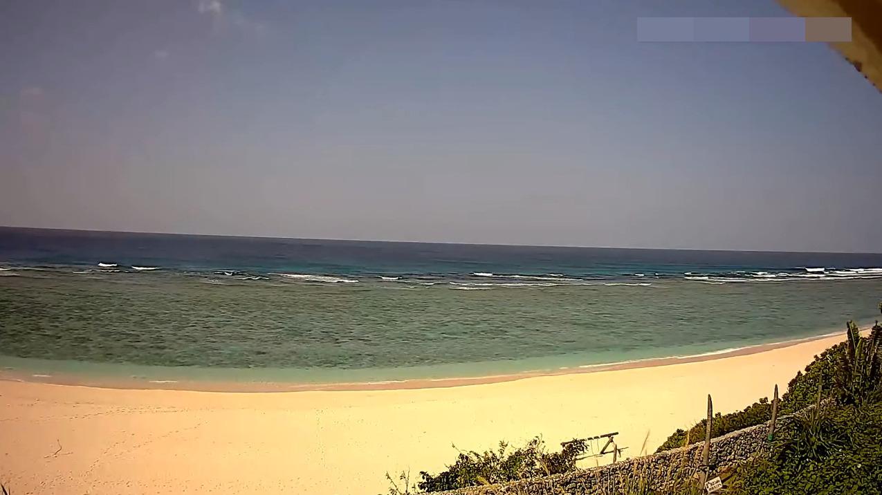 与論島パラダイスビーチライブカメラ(鹿児島県与論町立長)