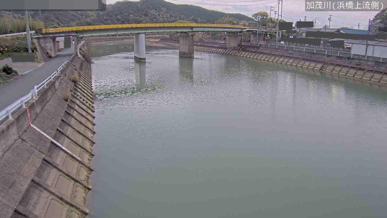 加茂川浜橋上流側ライブカメラ(三重県鳥羽市船津町)