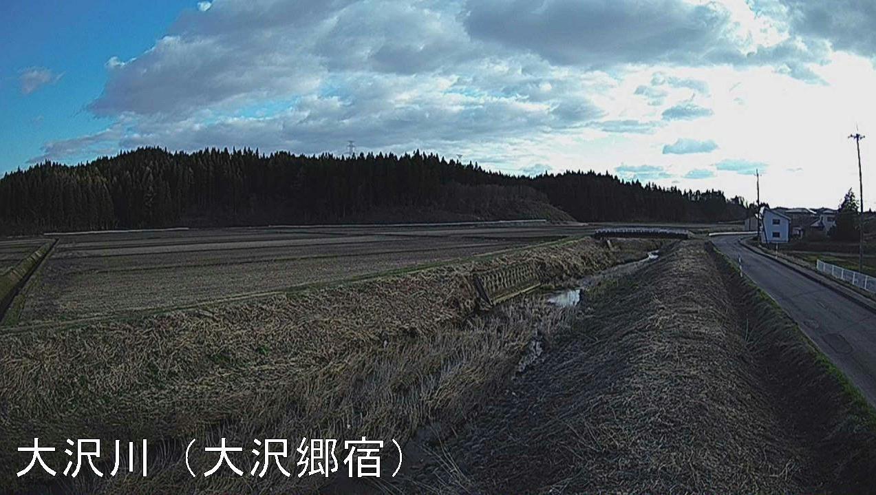 大沢川大沢郷宿ライブカメラ(秋田県大仙市大沢郷宿)