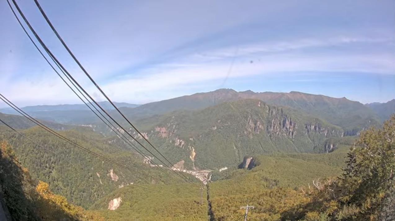 黒岳5合目山麓方向ライブカメラ(北海道上川町層雲峡)